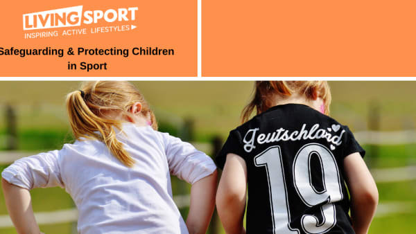 Two children playing - safeguarding training source graphic