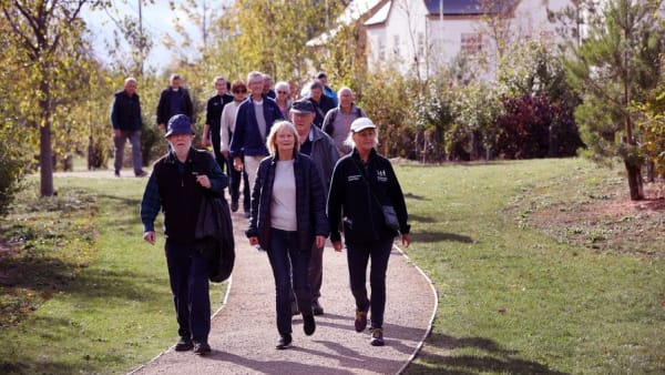 Active Lives image showing group of people walking along a path
