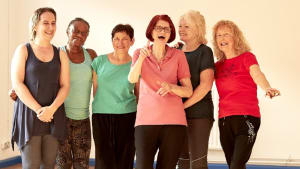 Older people being active